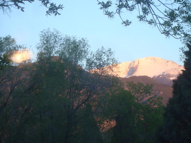 A VIEW FROM THE LIVING ROOM - PIKES PEAK COTTAGE By Garden Of The Gods, Mtn View - Colorado Springs - rentals