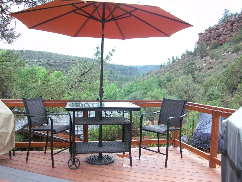 Private Deck and Patio - Casita - La Petite Maison Casita in the Pines (Two Person) - Payson - rentals