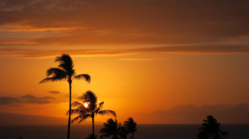 Amazing sunset views from condo - Kaanapali  Luxury Condo Huge Ocean View On Tee 13 - Lahaina - rentals