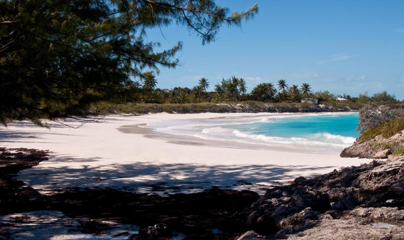 Forbes Hill Beach on Little Exuma and many more only a 10 minute drive away. - Exuma Vacation Cottages with pool,  kayaks & dock. - Great Exuma - rentals