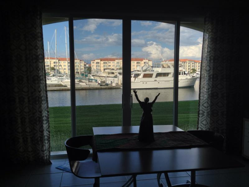 View from florida room - Spacious, marina view, amenities - Fort Pierce - rentals