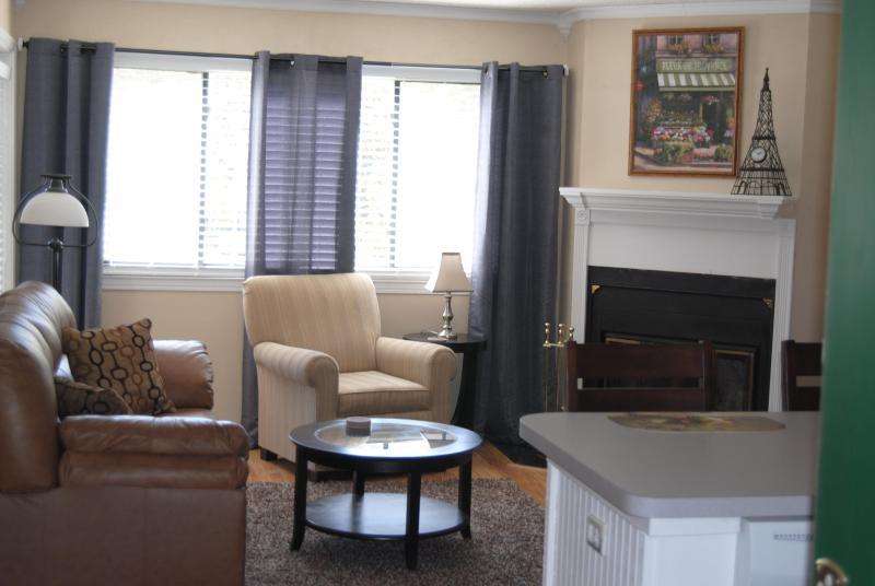 Living room with fireplace and sleeper sofa - Wonderful Mountain Condo-Gorgeous Mountain Views - Gatlinburg - rentals