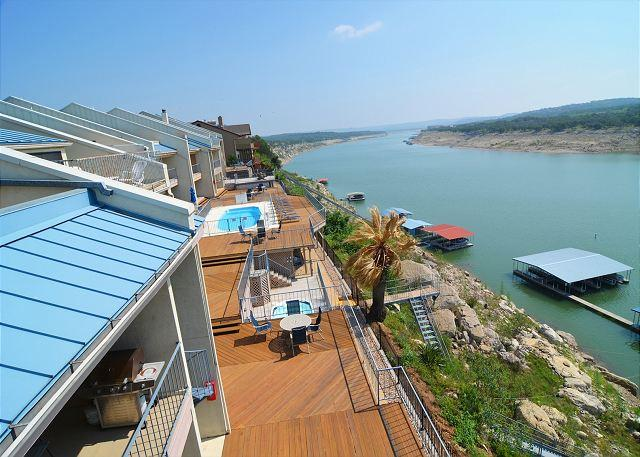 View from the 3rd level private balcony - Beautiful Waterfront Condo with Deep Water Boat Slip - Spicewood - rentals