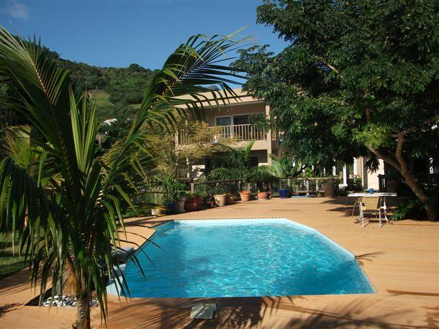 pool overview - Rusty Pelican Apartments La Gaulette, self caterin - La Gaulette - rentals
