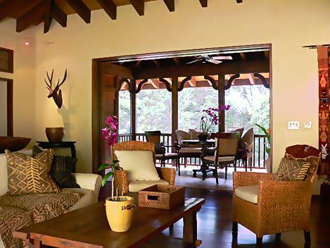 Comfortable living room looking into screened lanai - Romantic Tropical Hawaiian House - South Shore - Koloa - rentals