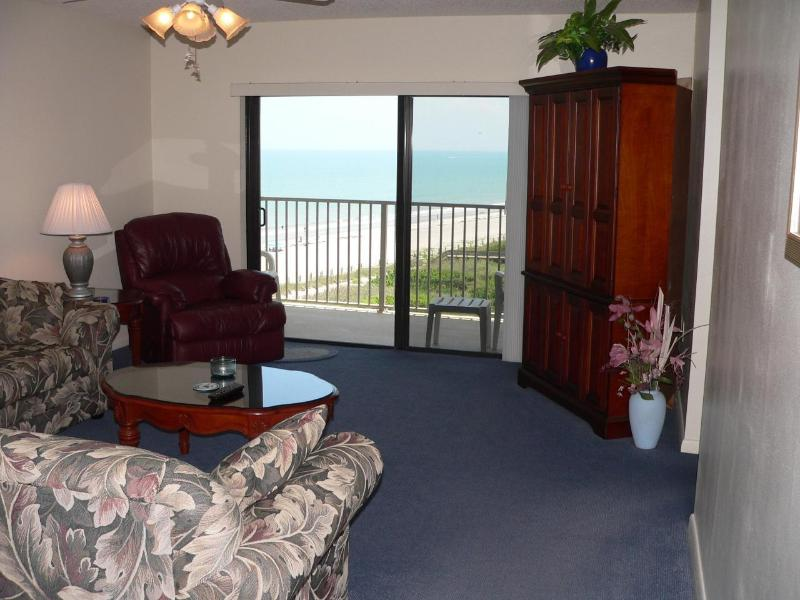 Living Room with Ocean View - Oceanfront 2 Bedroom 8th floor Condo - Cocoa Beach - rentals