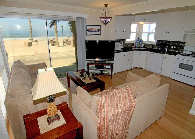 4 Bedroom Lower Level Duplex on the Sand in Oceanside, CA, on the Strand - Image 1 - Oceanside - rentals