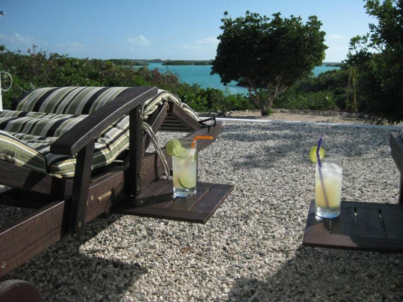 Patio - Blue Pearl, Private Villa on Chalk Sound - Providenciales - rentals