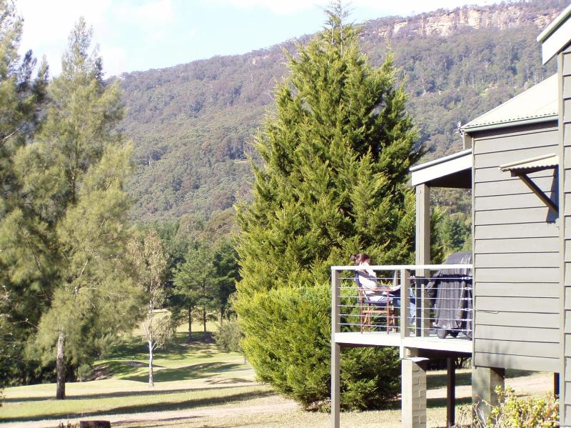 Deck with great views - BLUE GUMS - A NEWLY RENOVATED COUNTRY COTTAGE - Kangaroo Valley - rentals