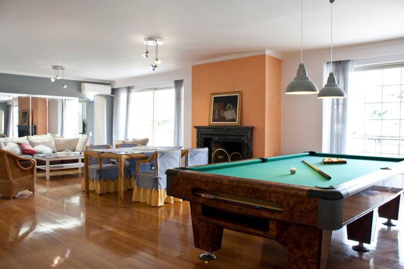 Living room wuth pool table - SPACIOUS 200sq. meters FABULOUS  apartment - Glyfada - rentals