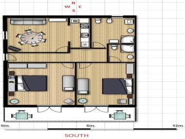 A(4+2)Garbin: floor plan - 5261  A(4+2)Garbin - Makarska - Makarska - rentals