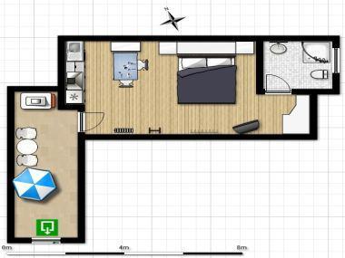 SA(2)Levant: floor plan - 5261  SA(2)Levant - Makarska - Makarska - rentals