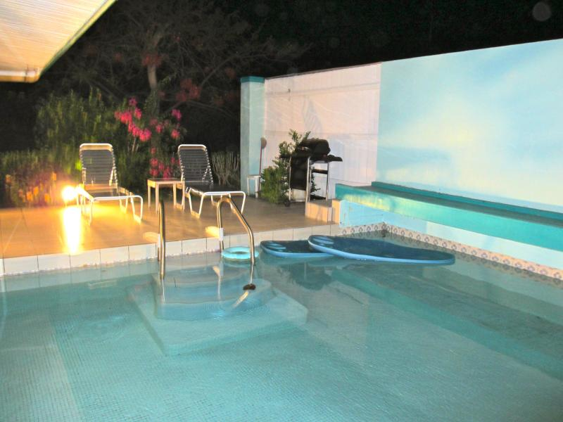 Take a romantic dip by moonlight - Private Pool Beach Cottage. Sea viewNew bed/bath - Red Hook - rentals