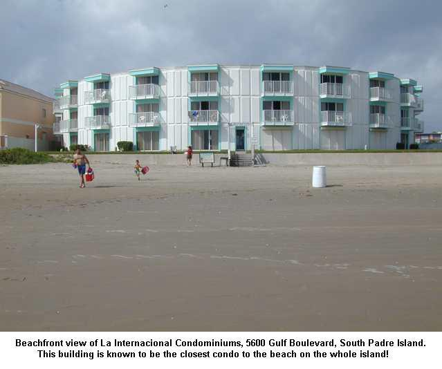 Beach side view of building - La Internacional #211 - 86 Steps to the Beach - South Padre Island - rentals