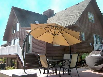 Deck with grill - Luxury home on Lake near Saugatuck & Lake Michigan - Fennville - rentals