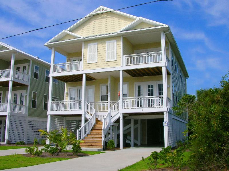 Our condo is the right side of this of this duplex. - Beautiful 4 BR Ocean View Home in Carolina Beach! - Carolina Beach - rentals