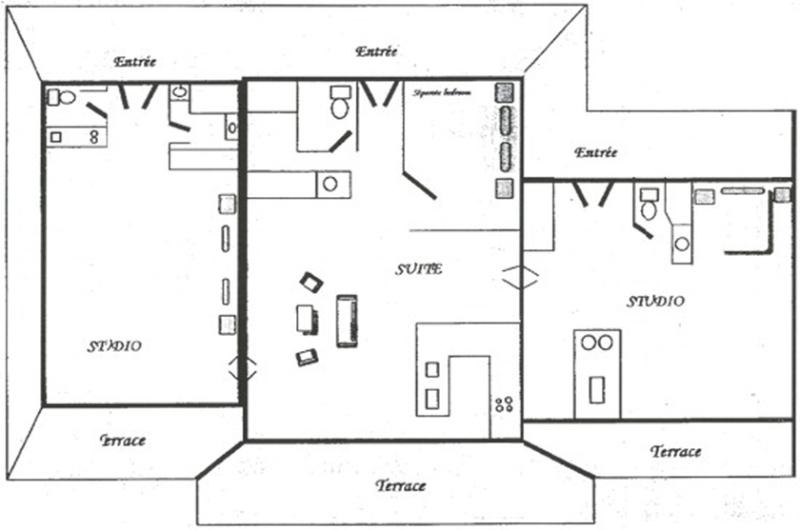 La Plantation Hotel Floor Plan - LA PLANTATION HOTEL...A Romantic Retreat Overlooking French St Martin's Orient Beach - Saint Martin-Sint Maarten - rentals