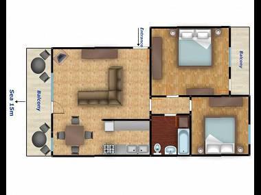A1(4+1): floor plan - 5440  A1(4+1) - Slatine - Slatine - rentals