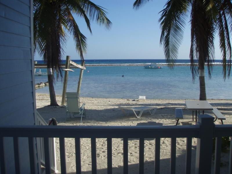 view from bedroom deck - 2 bedroom condo on the quiet island of Cayman Brac - Cayman Brac - rentals