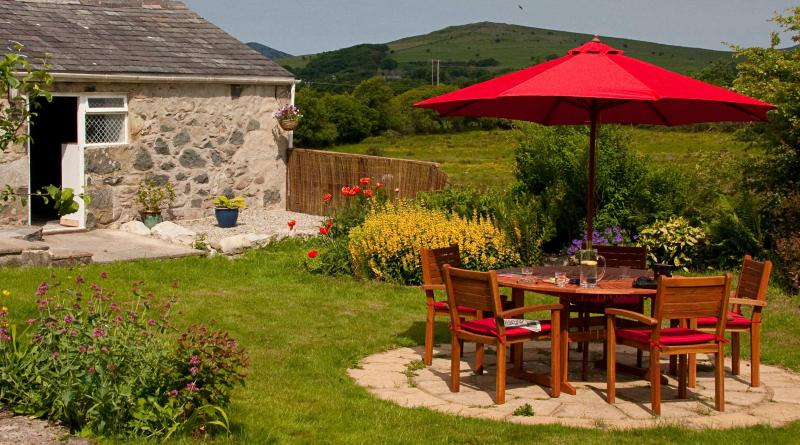 Patio Area - Character cottage in Llangybi near Criccieth - Criccieth - rentals