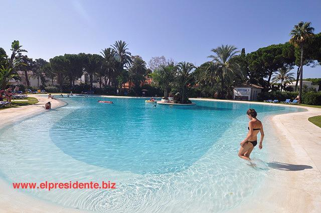 "Our beautiful main swimming pool is lagoon shaped - El Presidente ""KENT"" Beachside, Heated Pool + wifi - Alicante - rentals"