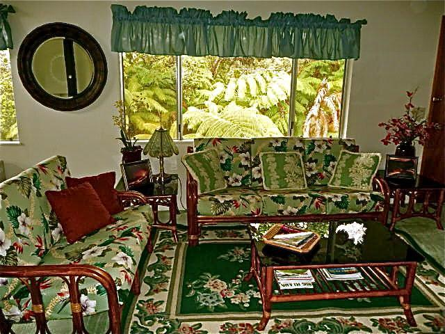 upstairs living space - Ainani Jade Ohana- $115/night for 2 guests! - Volcano - rentals