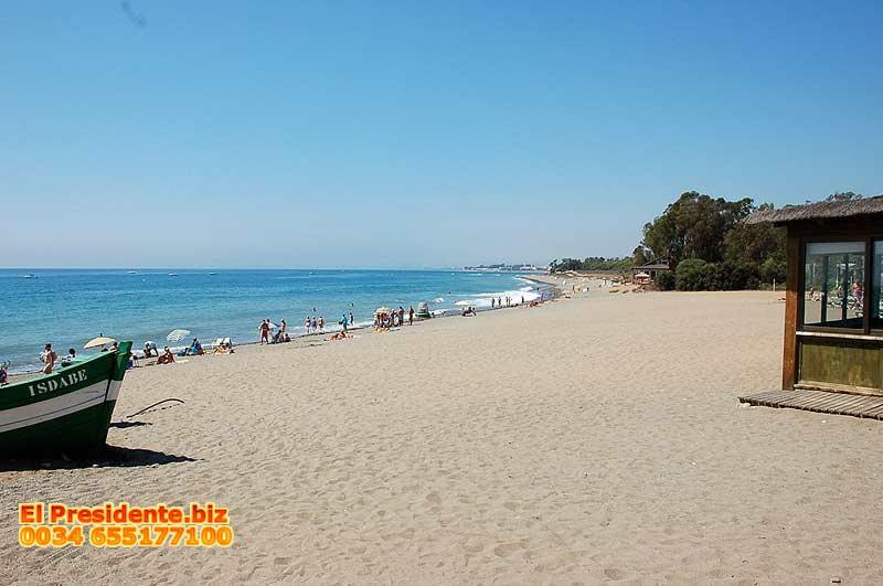 "Our local beach is just a short distance from our apartment - El Presidente ""YOLANDA"" 1 Bed, Heated Pool + wifi - Estepona - rentals"