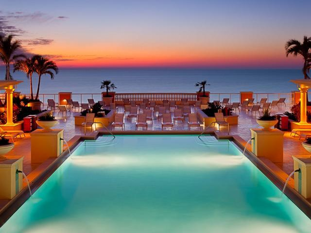 Pool terrace and sun deck overlooks the beach and Gulf - Hyatt Regency Premium Guestroom with 2 Queens Unbeatable Price for 7 night stay | Best of the Beach - Clearwater Beach - rentals