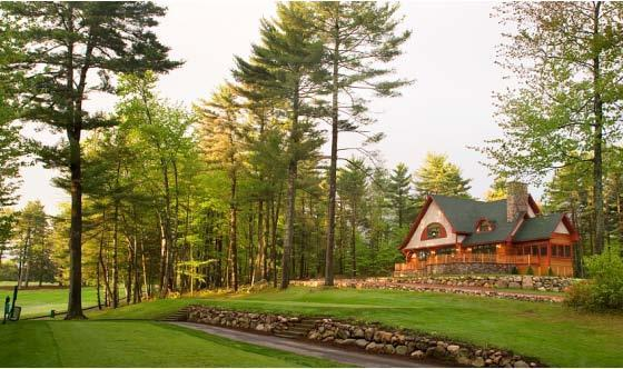 View of house from Sagamore Resort's Golf Course - Large Luxury House on Sagamore Golf Course - Bolton Landing - rentals
