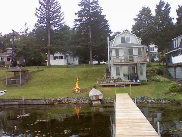 View from dock and firepit - Lake Front Cayuga finger lakes in Seneca Falls NY - Seneca Falls - rentals