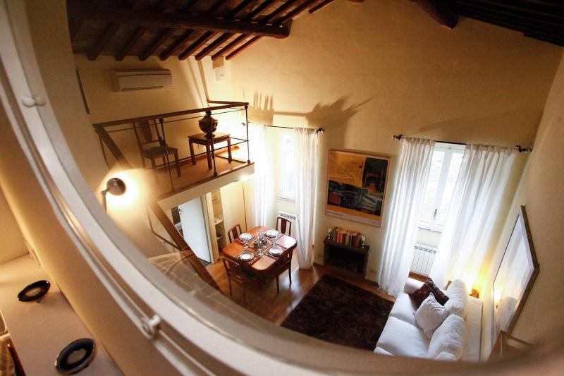 living room - Rome, Palazzo Montemarte, Polluce apartment - Rome - rentals
