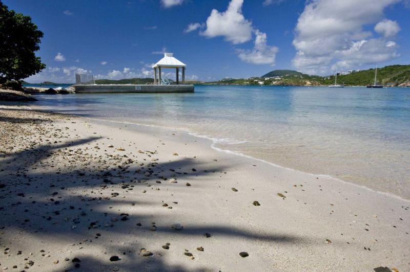 Really this is your beach and your dock! - THE BEACH HOUSE, luxury Secret Harbor villa - Saint Thomas - rentals