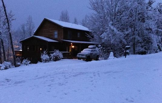 Winter at the cabin - Blue Ridge Adventures Cabin - Lake Lure - rentals