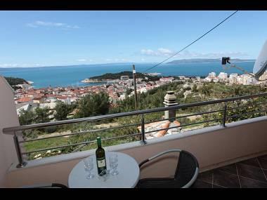 SA Zeleni (2+1): terrace view - 5494  SA Zeleni (2+1) - Makarska - Makarska - rentals