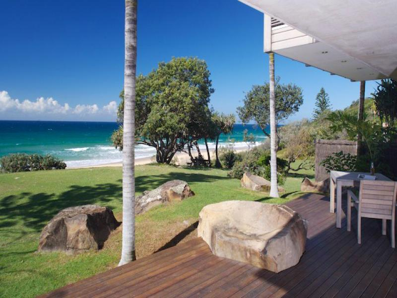 Front deck overlooking the beach - Stunning beachfront designer home on the sand dune - Yaroomba - rentals