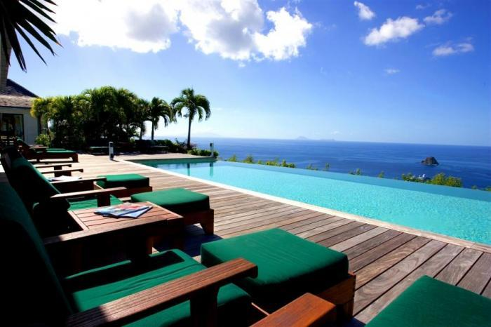 Luxury 5 bedroom St. Barts villa. 270 degrees of ocean and garden views! - Image 1 - Colombier - rentals