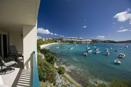 Cowpet Bay Beach from private gallery at VILLAMAR - VILLAMAR, luxury 2 BD condo at COWPET WEST - Saint Thomas - rentals