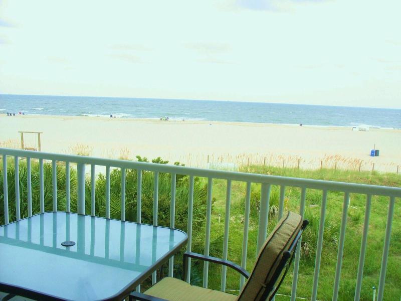 View from Beachfront Deck - Beachfront Luxury 1 BR Condo - 3 Oceanfront Pools - Tybee Island - rentals