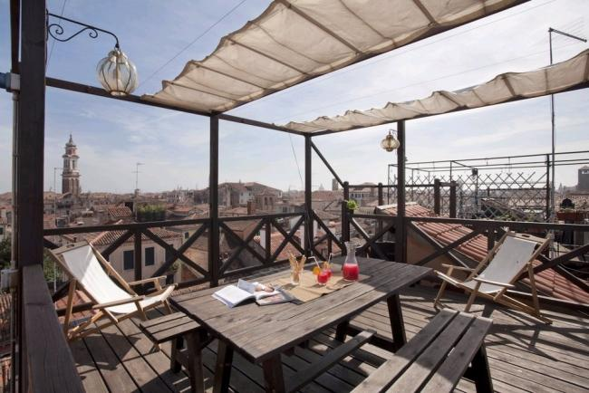 A beautiful modern loft on two floors featuring a large rooftop terrace with a panoramic view. - Image 1 - Venice - rentals