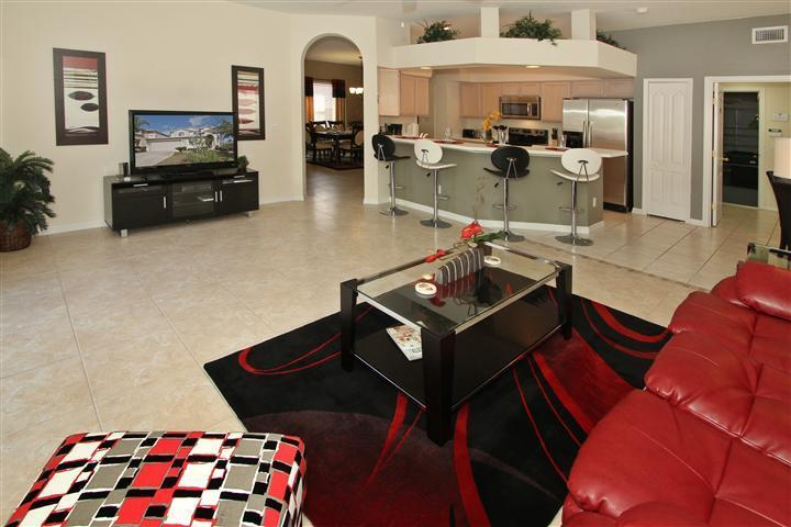 Open Concept Great Room - 5BR Luxury Villa - Jade Villa at West Haven - Orlando - rentals