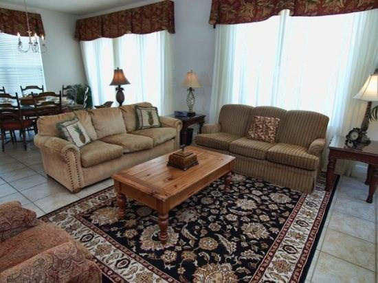 Living Area - RE4P1539FC 4BR Great Pool Home with Spa & Free WiFi - Orlando - rentals
