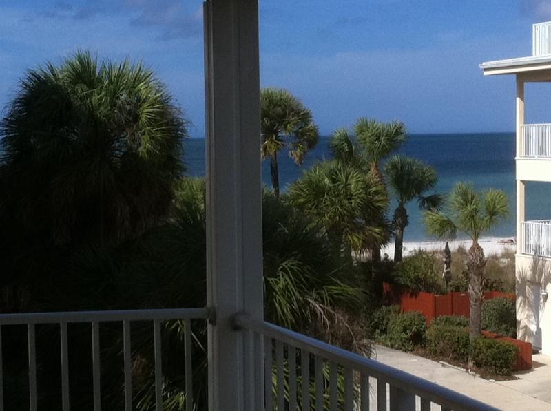 Balcony view - Luxurious Top Floor/Corner Beachside Condo! - Indian Rocks Beach - rentals