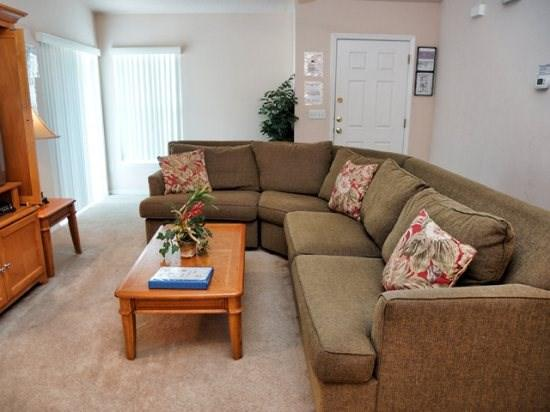 Living Area - SR3P297BJW 3 Bedroom Home with South-facing Pool - Orlando - rentals