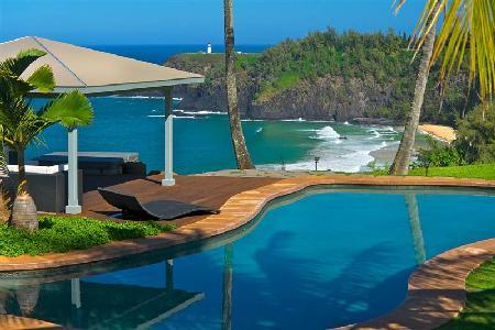 Dali Hale Estate On Secret Beach - Swimming Pool, Spa and Tennis Court - Image 1 - Kilauea - rentals
