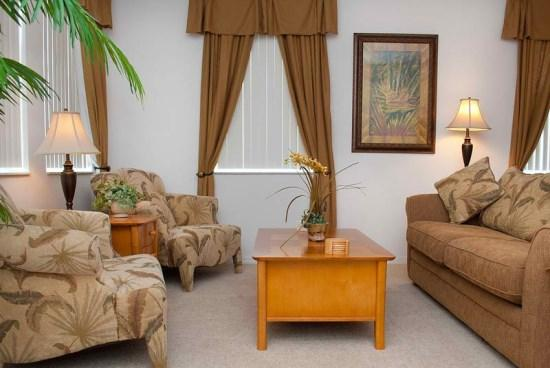 Living Area - WB5P168FVD 5 BR Villa with Pool and Spa - Orlando - rentals