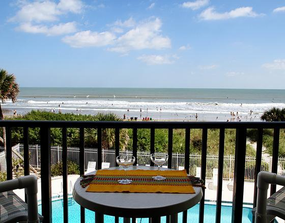 Beautiful view of the ocean from your balcony! - ** Direct Ocean, Bright Corner Unit by the Pier! * - Cocoa Beach - rentals