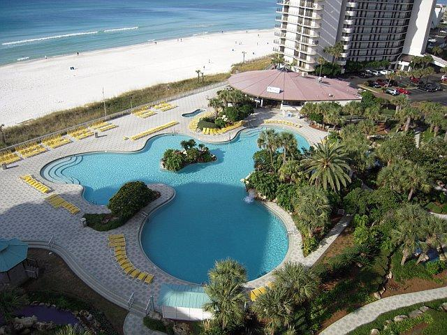 This is your view! Tower 1 view overlooks lagoon pool and gulf - Deluxe 3 Bedroom on the Beach at Edgewater at Panama Beach - Panama City Beach - rentals