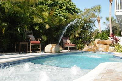 Heated Pool with Kiddie Jets, Extra Large Pool Sun Deck - Long Board-131WWhite - Holmes Beach - rentals