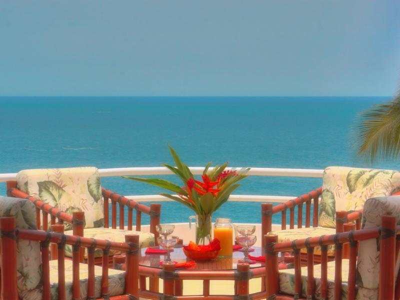 Panoramic view from your Palapa - CASA REBECA - 2 Bedroom Oceanfront Penthouse Condo - Puerto Escondido - rentals