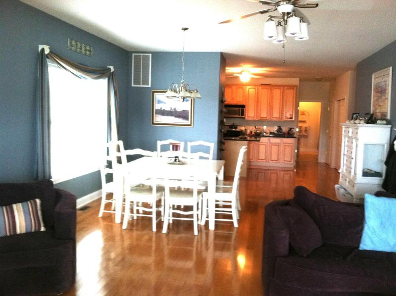 2nd floor living room, dining area and kitchen w/full bathroom and bedroom behind the kitchen  - NW Spacious  5 BR/3 Full Bths. & NW parking permit - North Wildwood - rentals